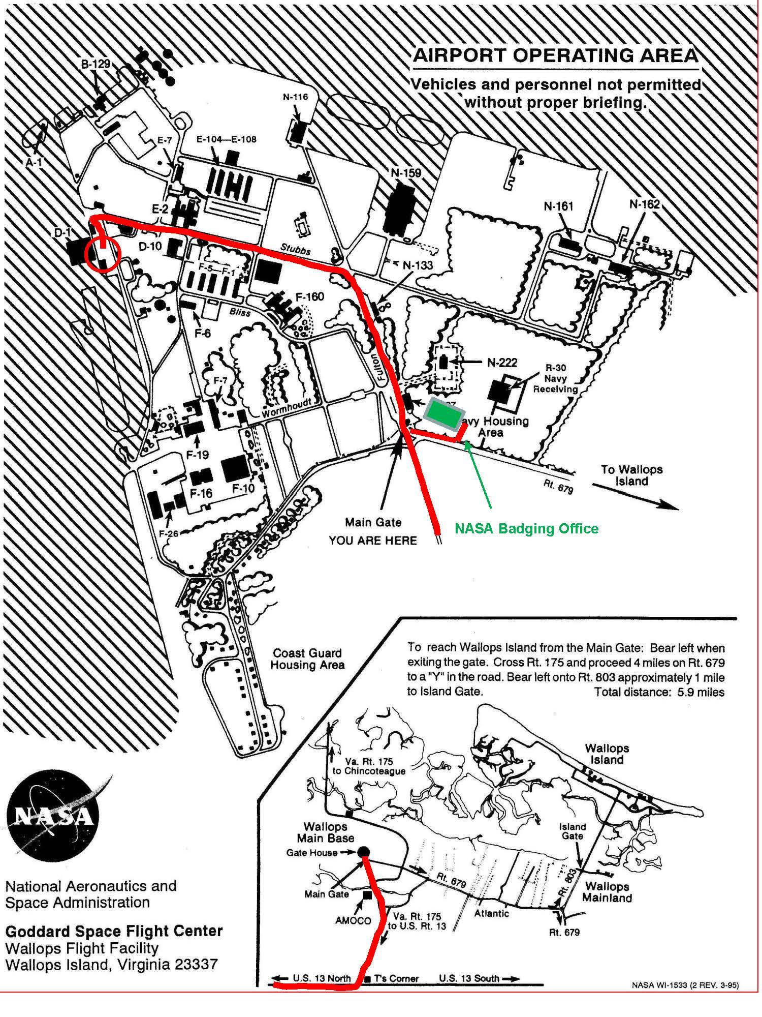 Wallops Island Flight Facility Map
