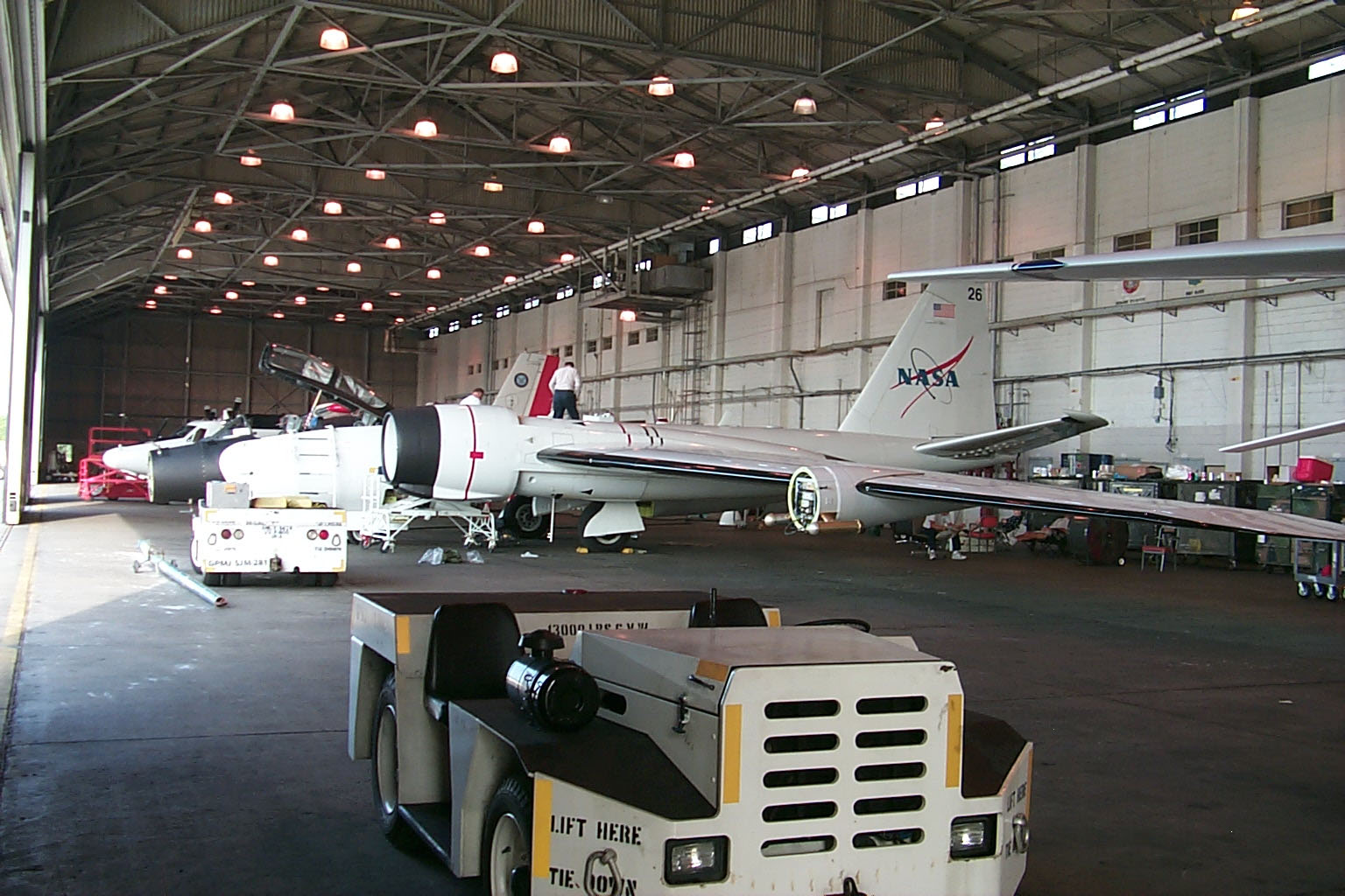 a nasa aircraft in hangar - photo #21