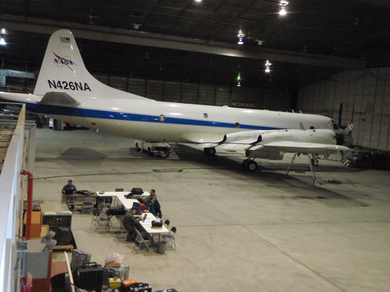 a nasa aircraft in hangar - photo #25