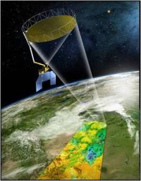 Artist's view of SMAP satellite