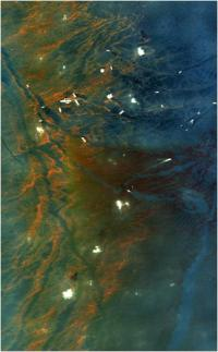 AVIRIS image collected over the Deepwater Horizon BP oil rig disaster on May 17,