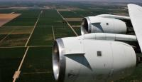 NASA's DC-8 airborne science laboratory flew low over San Joaquin Valley farm fi