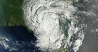 Satellite view of Tropical Depression Beryl over Florida