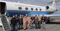Flight and ground crew team of NASA's C-20A (G-III) environmental science research aircraft