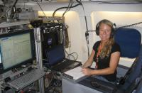 Heather Arkinson monitoring the In-Situ Formaldehyde Instrument