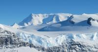 Ice on the Ellsworth Range in Antarctica as seen from the NASA DC-8