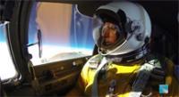ER-2 pilot in cockpit at 70K ft