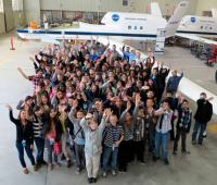 Students from the Palmdale Aerospace Academy in Palmdale, Calif., got a first-hand look at NASA's two autonomously operated Global Hawk science aircraft during their field trip to NASA's Dryden Flight Research Center