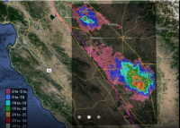 Total subsidence in California's San Joaquin Valley for the period June 2007 to Dec. 2010