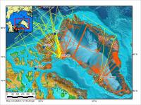 Map of P-3 2012 Arctic Flight Tracks