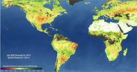 NASA satellite data from OpenNEX showing global drought conditions.