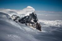 A rock outcrop and ice near Antarctica's Fleming Glacier seen during the Nov. 16, 2014, IceBridge survey flight. Credit: NASA / Michael Studinger