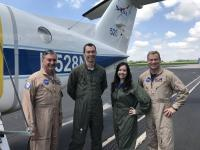 NASA's Kurt Blankenship, Matt Kowaleski, Laura Judd and Taylor Thorson are conducting science flights on NASA Langley's UC-12 aircraft as part of the Lake Michigan Ozone Study. Credits: NASA