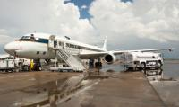 NASA's DC-8 preparing to fly on Aug. 12 from Ellington Field in Houston.
