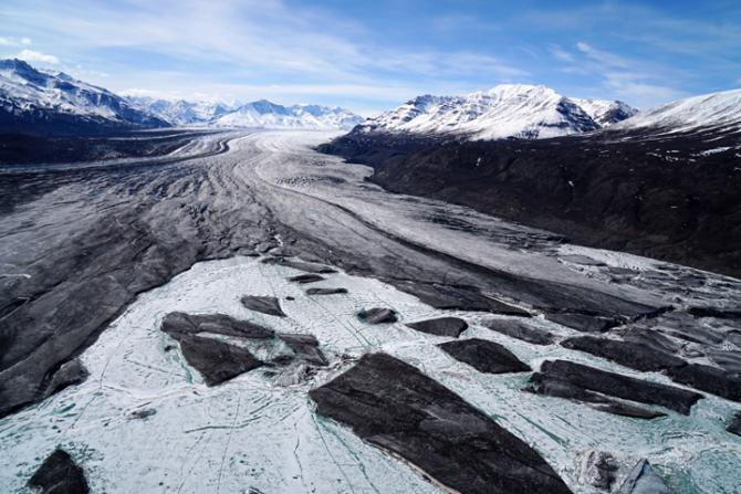Nabesna Glacier. Image Credit: Chris Larsen, University of Alaska, Fairbanks