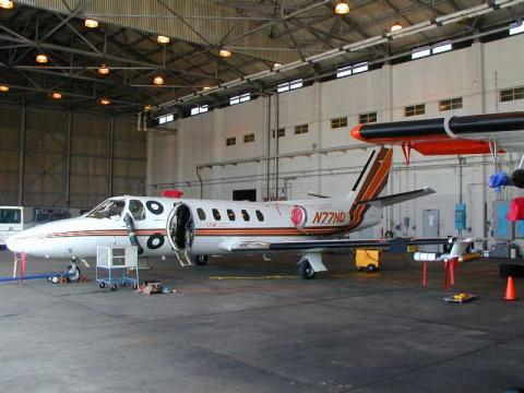 a nasa aircraft in hangar - photo #43