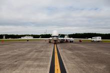 AV-6 prep for takeoff from Wallops (9.19.12)