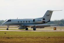 NASA JSC GIII Carrying AirMOSS UAVSAR Pod