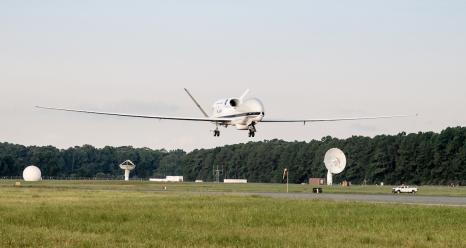 Global Hawk arrives at KWAL