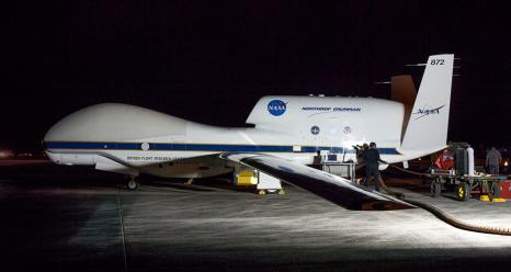 NASA Global Hawk at Anderson Air Force Base in Guam