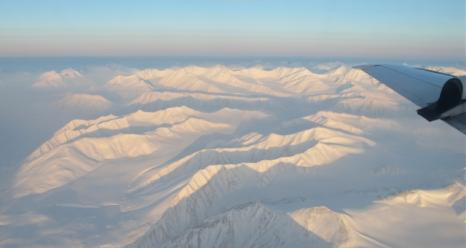 Northern Greenland mountains from the NASA P-3