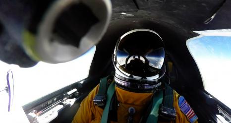 65,000 feet above Earth, the NASA ER-2 high-altitude pilot calmly waits to adjust course and intercept lightning producing storms. Credit: NASA