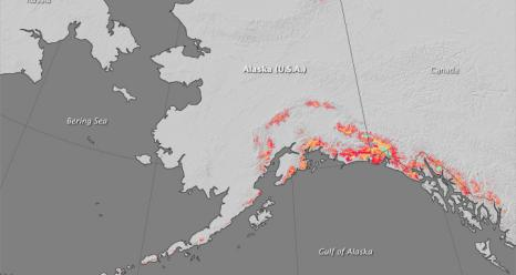 Airborne surveys of southern Alaska have helped scientists get a better handle on where ice is being lost from this heavily glaciated region. Melting ice from Alaskan glaciers is estimated to be one of the main contributors to global sea level rise.