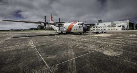 A C-130 from Wallops Flight Facility prepares for ACT-America's fall flight campaign. Credits: NASA/Patrick Black