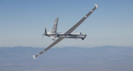 The Ikhana aircraft is flying a TAMDAR Edge probe that could significantly improve weather models and forecasts. Credits: NASA Photo / Lori Losey