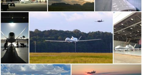 Collage of Global Hawk photos taken during the 2014 mission. Image Credit:  NASA/ Brian Kelly and Erin Czech