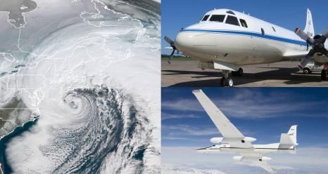 NASA's P-3 and ER-2 research planes are studying East Coast snowstorms Jan 17-Mar 1, 2020. Credit: NASA Credits: NASA