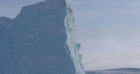 A large iceberg near Thule Air Base, Greenland. Credits: NASA