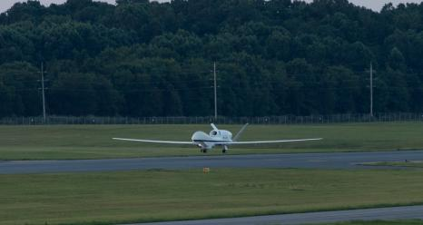 NASA's remotely piloted Global Hawk aircraft arrived at NASA's Wallops Flight Facility early on Saturday, Aug. 22, where it will begin a NOAA-led mission seeking to improve hurricane forecasts.
